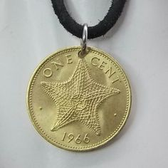 Necklace made with a Bahamas Starfish coin.