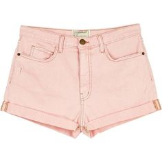 Current/Elliott The Short Westcoast Charmer ($81) ❤ liked on Polyvore featuring shorts, bottoms, short, blushback, boyfriend shorts, current elliott shorts, boyfriend denim shorts, summer shorts and light pink shorts