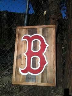 boston red sox on plank board