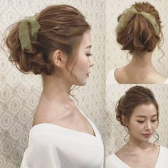 大人レトロなブライダルヘアカタログ | marry[マリー] Cute Hairstyles, Wedding Hairstyles, I Like Your Hair, Fairy Hair, Vintage Lace Weddings, Pin Up, Bridal Hairdo, Hair Arrange, Festival Hair
