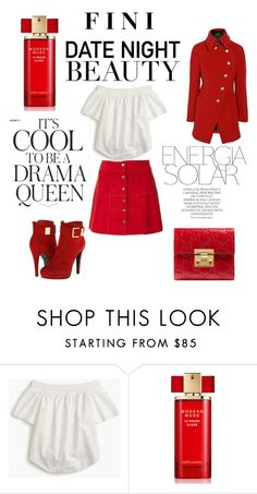 """Date Night Beauty"" by fini-i ❤ liked on Polyvore featuring J.Crew, Estée Lauder, Gucci, Emma Watson and Magdalena"