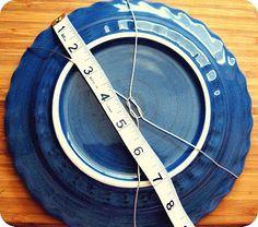 homemade plate hanger