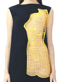 "patternprints journal it: MERAVIGLIOSI E INNOVATIVI PATTERNS CON EFFETTO ""WIREFRAME"" NELLA COLLEZIONE MODA RESORT 2014 DI CHRISTOPHER KANE Fashion Details, Net Fashion, Fashion Week, Couture Fashion, High Fashion, Fashion Art, Runway Fashion, Fashion Design, Womens Fashion"