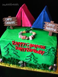 Happy Campers cake