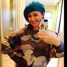 DKNY Camo 💚💚💚 by Linda Personal Taste, Sweater Weather, Camo, January, Ruffle Blouse, Sweaters, Women, Style, Fashion
