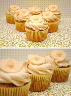 Cupcakes de plátano y caramelo