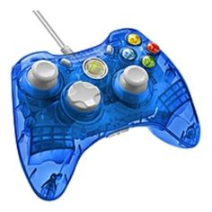 Rock Candy Wired Controller for Xbox 360 - Blueberry Boom - Cable - Xbox 360 - 8 ft Cable - Force Feedback - Blueberry Boom