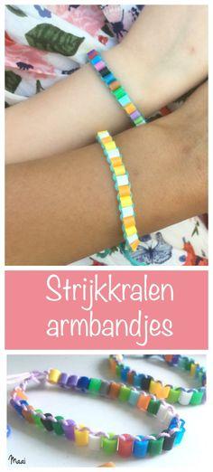 strijkkralen armbandjes, hamabeads, knutselen, crafts for kids
