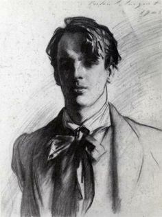 William Butler Yeats, 1908  John Singer Sargent