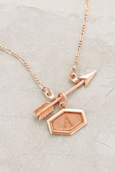 Inscribed Arrow Necklace | Anthropologie