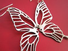 Pierced Butterfly Earrings