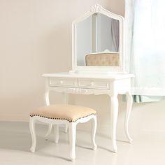 本格的高級ホワイト家具:Coco Mimine-ココミミンヌ-クラシックドレッサーセット