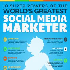 [Infographic] 10 Super Powers of the World's Greatest Social Media Marketer