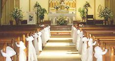 wedding bows for pews - Google Search