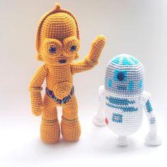 72 Amigurumis Star Wars ¡ Geniales ! | Otakulandia.es Crochet Patterns Amigurumi, Amigurumi Doll, Crochet Dolls, Star Wars Crochet, Crochet Stars, Basic Crochet Stitches, Crochet Basics, Crochet Crafts, Crochet Projects
