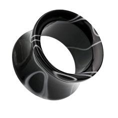 A Pair of Marble Swirl Acrylic Double Flared Ear Gauge Tunnel Plug Emo Jewelry, Skull Jewelry, Hippie Jewelry, Body Jewelry, Jewlery, Plugs Earrings, Gauges Plugs, Pearl Earrings, Ear Tunnels