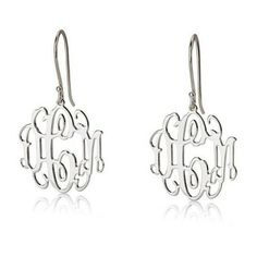 Sterling Silver monogram earring. #earring #ring #style #jewelry  9thelm.com