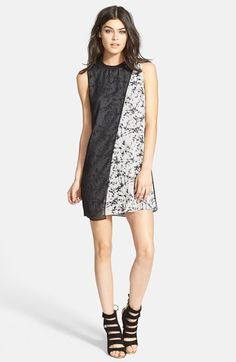 Filtre Sleeveless Sheer Overlay Dress available at #Nordstrom