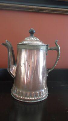 ANTIQUE COPPER/BRASS COFFEE POT | eBay
