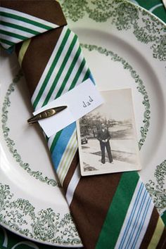 Tie #napkinfold for Father's Day