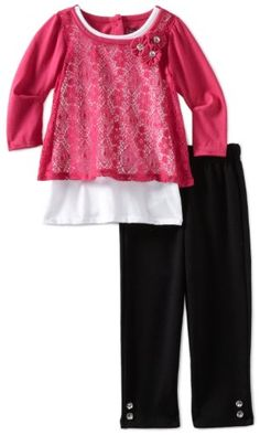 Young Hearts Girls 2-6X 2 Piece Lace Pant Set $7.87 (save $36.13) + Free Shipping