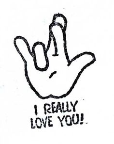 I Really Love You Sign Language Rubber Stamps Hearing Loss, Deaf ...