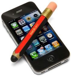 It's better than trying to use a finger >>ThinkGeek :: Giant Pencil Touchscreen Stylus
