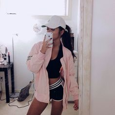 Cheap Amazon virgin hair bundles Summer Outfits, Chill Outfits, Casual Outfits, Cute Outfits, Fashion Outfits, Passion For Fashion, Pink Bomber Jacket, Pink Jacket, Looks Com Bone
