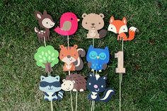 Woodland Creatures Party Center Piece or Table Topper CHOOSE THREE