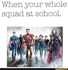 Funny Squad Goals | squad, goals - Avengers Age of ultron was beautiful
