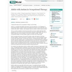 Adults with Autism in Occupational Therapy