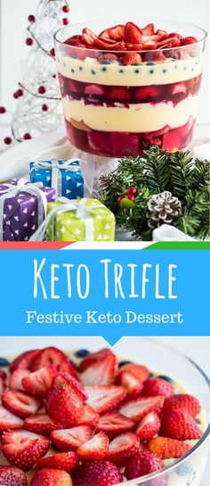 Ketogenic Trifle – A Very Keto Christmas via @fatforweightlos
