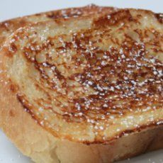 Weight Watchers French Toast | 4 egg whites 1/4 cup skim milk 1 tbsp cinnamon 1 tbsp vanilla extract 6 slices white bread (weight watchers) butter flavored cooking spray maple syrup