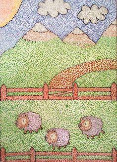El puntillismo  fue un movimiento pictórico que surgió en 1884, encabezado por el pintor  francés Georges Seurat . La técnica puntillista ... Colorful Drawings, Art Drawings, Art Lessons Online, Creation Art, 3rd Grade Art, Madhubani Painting, School Art Projects, Middle School Art, Art Lessons Elementary