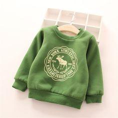 Hoodies Clothes Children's thick Sweatshirts Set