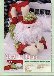 Ateliê Doces Laços: Bonecos de Natal!!! Moldes.... Tilda e Papai Noel de Pijama!