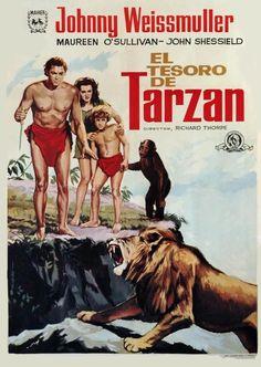 Tarzan Book, Tarzan Series, Tarzan Movie, Maureen O'sullivan, Tarzan Of The Apes, Tarzan And Jane, Old Film Posters, Cinema Posters, Tarzan Johnny Weissmuller