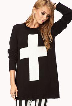 Longline Cross Sweater | FOREVER21 - 2000076383