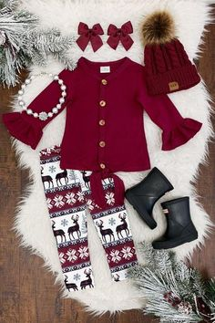 US Toddler Baby Girl Kids Christmas Clothes Cardigan Top T-shirtLegging Outfits . US Toddler Baby Girl Kids Christmas Clothes Cardigan Top T-shirtLegging Outfits Little Girl Outfits, Little Girl Fashion, Toddler Girl Outfits, Toddler Fashion, Kids Fashion, Fashion Games, Woman Fashion, Fall Fashion, Outfits Niños