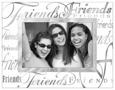 """Malden International Designs Mirrored Glass With Silver Metal Inner Border Friends Picture Frame, 4x6, Clear - Transform the look of your home, office or dorm with this modern picture frame. The """"Expressions"""" design by Malden is a great way to express yourself and provide a fun accent to your decor. With its simple yet modern design, it can be combined with other frames for a unique look. This item comes ..."""