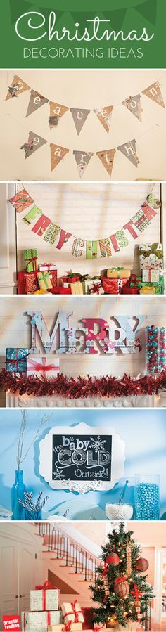 There's no end to Christmas decorating ideas or Christmas shopping. Here's to doing both. Merry Mantles. Chilly Chalkboards. Ornament Picks. Whether you're dressing the house for winter or decking the halls for the holidays, you'll find warm and festive right here.