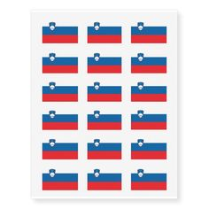 Slovenian flag temporary tattoos