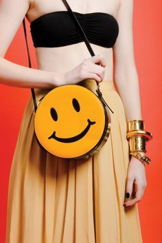 Vintage MOSCHINO Patent Leather SMILEYFACE BAG