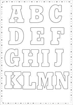 Moldes De Letras Para Imprimir Do Alfabeto Pictures Printable Alphabet Letters, Alphabet Templates, Alphabet Art, Alphabet Activities, Bubble Letters, Letter Patterns, Quilling Patterns, Cool Writing, Stencil Art