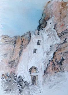 the monastery of chozoviotissa in Amorgos. www.amorgosartgallery.gr