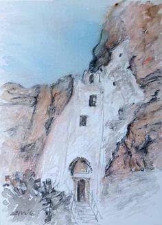 the monastery of chozoviotissa in Amorgos. www.amorgosartgallery.gr