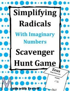 Great activity to add to your number systems or quadratic units! These scavenger hunts are a great way to boost student engagement.