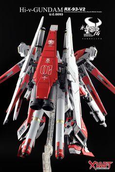 MG 1/100 Hi-Nu Gundam Ver. Ka + HWS Parts - Customized Build