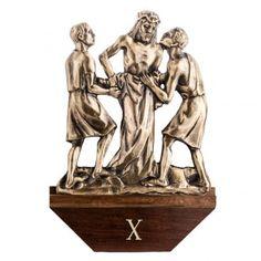 Vía Crucis latón fundido 30x50 cm con base - 15 es | venta online en HOLYART