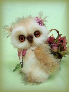 Купить Совушка Софья - сова, мишки тедди, друзья тедди, авторская игрушка, коллекционные игрушки